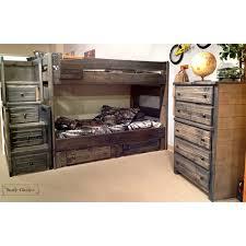Rustic Bunk Bed Rustic Classics Pine Bunk Bed In Rustic Grey