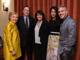 Hillary Clintons House Lancaster Couple Dines At George Clooney U0027s House With Hillary