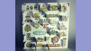 christmas plates advent calendar card youtube