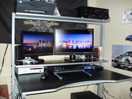Corner Gaming Computer Desk Excellent Desks Photo Inspiration