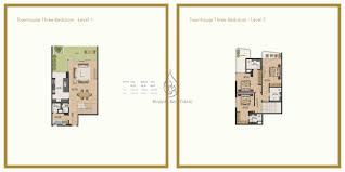 splendor 3 bedroom townhouse floor plan