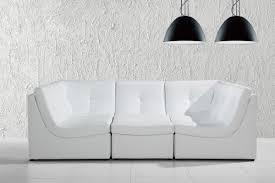 White Leather Sectional Sofas Divani Casa 207 Modern White Bonded Leather Sectional Sofa