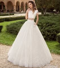 aliexpress com buy robe de mariage 2 piece wedding dress 2017