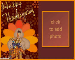 animated happy thanksgiving turkey picture frame imikimi