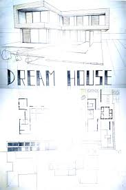 architect designed house plans modern house drawing perspective floor plans design architecture