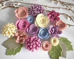felt flowers felt flower etsy