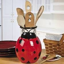 Ladybug Home Decor Ladybug Utensil Holder Decorations Room Decor By