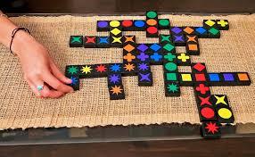 the green glass door game amazon com qwirkle board game mindware toys u0026 games