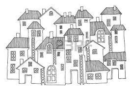 drawing houses cartoon hand drawing houses vector royalty free cliparts vectors