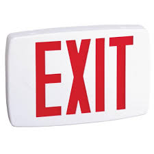 lithonia lighting catalog pdf lithonia lighting plastic white led emergency exit sign with battery