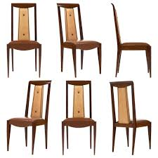 art deco dining room french art deco solid walnut dining chairs jean marc fray