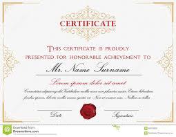 certificate template design stock vector image 65218839