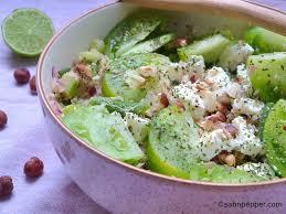 cuisiner les haricots verts salade de quinoa verde concombre tomates vertes et haricots verts