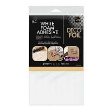 deco foil icraft deco foil white foam adhesive hutson llc hutson