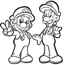 50 super mario luigi coloring pages images