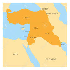 Middle East Map Map Of Middle East Or Near East Transcontinental Region With