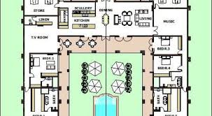 House Plans With Pools Fascinating U Shaped House Plans With Pool Images Best