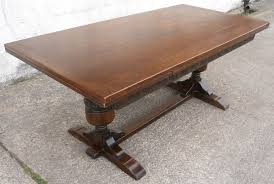 Draw Leaf Dining Table Large Oak Refectory Drawleaf Dining Table To Seat Ten Sold