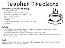 Water Challenge Directions Tea Engineering Historical Events Stem Challenge