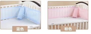 breathable mesh crib bumpers baby bedding 3 layer crib liner baby