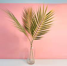 artificial areca palm leaf faux palm leaves stem fake