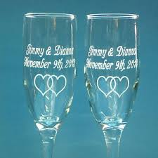 wedding glasses 2 personalized wedding glasses engraved chagne wine toasting