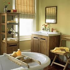 Country Bathrooms Designs Colors Earthy Natural Bathroom Wood Accents Farrow U0026 Ball U0027s U0027print