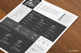 Free Download Creative Resume Templates Creative Resume Templates Free Download One Page Resume Template