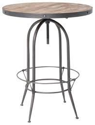 Adjustable Bistro Table Hughes Bristol Adjustable Pub Table Industrial Indoor Pub And