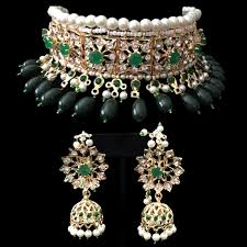 necklace choker set images Mahira choker set emerald la couture jpg