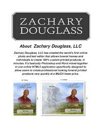 Funeral Programs Online Zachary Douglass Llc Funeral Programs Templates