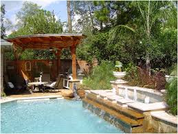 full image for bright small landscaping pool with gazebo furniture