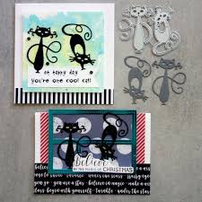 Cutting Dies For Card Making - shopaperartz two cool cats cutting dies birthday christmas cardmaking