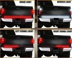 led backup light bar e cowlboy 60 inch red white tailgate led strip light turn signal