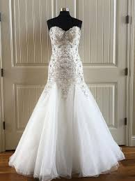 formal wedding dresses maggie sottero ivory pewter accent tulle beaded formal