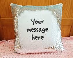 Customized Cushion Covers Personalised Magic Mermaid Cushion Custom Message Reveal