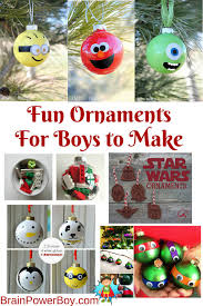ornaments for boys brain power boy