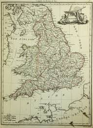 Map Of England by Brun Map Of England 1812