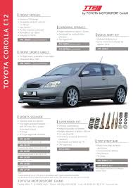 toyota corolla tte lower kits parts catalogs