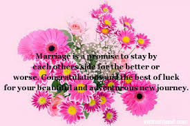 marriage congratulations message marriage is a promise to stay wedding message