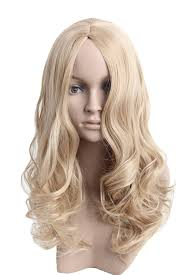 halloween city wigs amazon com angelaicos womens natural looking curly straight hair
