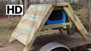 how to build an a frame sled dog house detailed construction