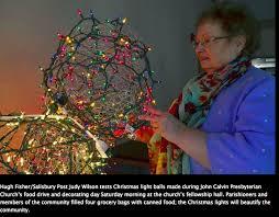 lighted christmas balls salisbury nc lighted christmas balls
