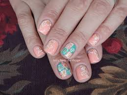 nail art design pastel spring swirls on short nails live