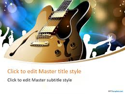 free guitar performance ppt template music ppt templates