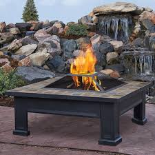 wood burning fire table real flame breckenridge steel wood burning fire pit table reviews