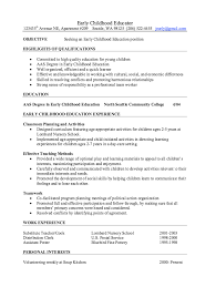 Working With Children Resume Brilliant Ideas Of Sample Resume For Early Childhood Teacher With