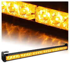 warning light bar amber v sek 27 emergency warning traffic advisor vehicle hazard strobe