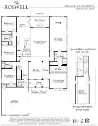 Story And A Half Floor Plans by The Roswell Floor Plan Al New Home Construction Davidson Homes