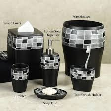 bathroom glamorous black bathroom accessories with soap dispenser